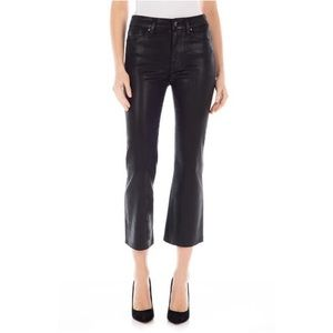 FIDELITY DENIM Hayden Coated Crop Flare Jeans